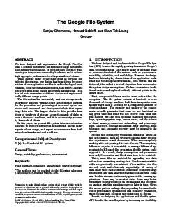 经典系统设计:谷歌文件系统