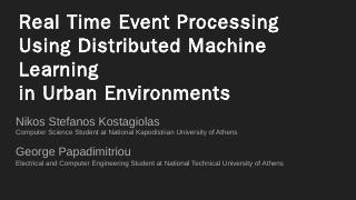 Real Time Event Processing Using Distributed ...