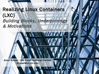 Realizing Linux Containers (LXC)