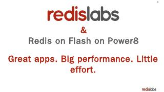 Redis Labs Enterprise Cluster - INDICO @ INAF