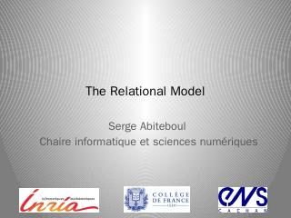 relational calculus - Serge Abiteboul