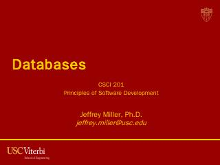 Relational Databases - USC