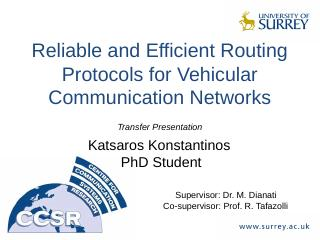 Reliable and Efficient Routing protocols for ...