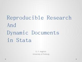 Reproducible Research and Dynamic Documents i...