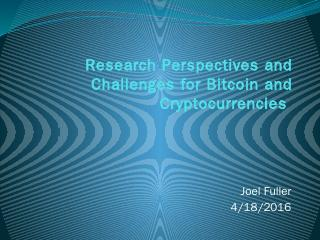 Research Perspectives and Challenges for Bitc...