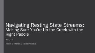 Resting State: Preprocessing & Analysis Discu...