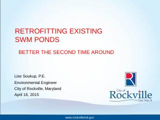 Retrofitting Existing SWM Ponds