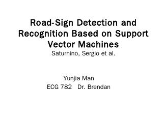 Road-Sign Detection and Recognition Based on ...