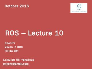 ROS Lecture10