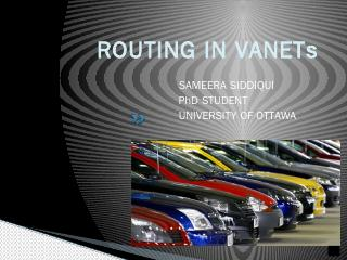 routing in vanets - University of Ottawa