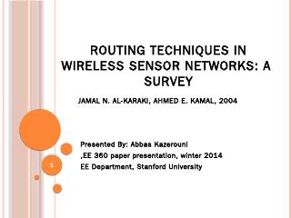 routing techniques in wireless sensor network...
