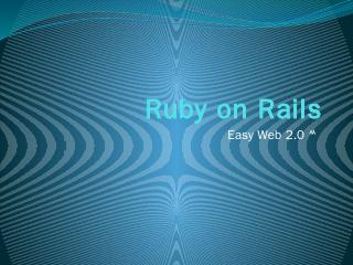 Ruby on Rails - Asia OSS