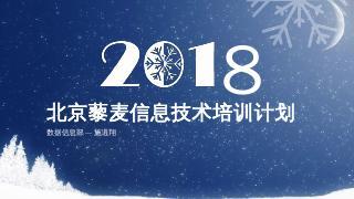 北京藜麦信息技术培训计划