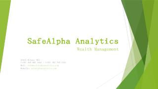 Safealpha Analytics wealth management - Itali...