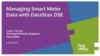 Managing Smart Meter  Data with DataStax DSE
