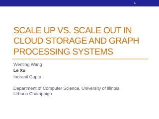 Scale up Vs. Scale out in Cloud Storage and G...