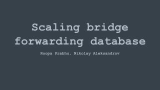 scaling bridge fdb database