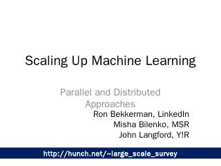 Scaling Up Machine Learning - Machine Learnin...