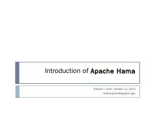 Scientific Computing with Apache Hama