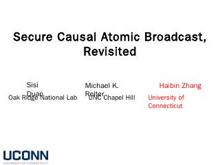 Secure Causal Atomic Broadcast, Revisited