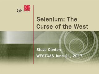 Selenium: The Curse of the West - WESTCAS