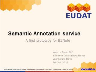 Semantic Web services - EUDAT