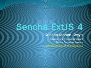 Sencha ExtJS 4 - Glarimy