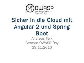 Sicher in die Cloud mit Angular 2 und Spring ...