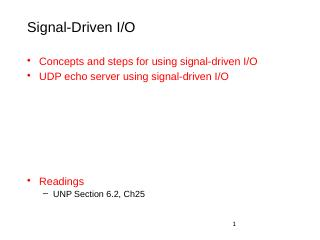 Signal driven IO