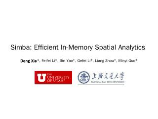 Simba: Efficient in-memory spatial analytics