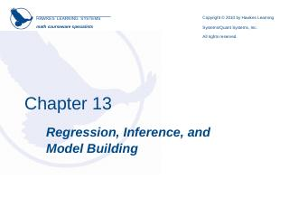 simple linear regression model - Investigador...