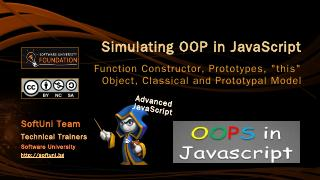 Simulating OOP in JavaScript - SoftUni