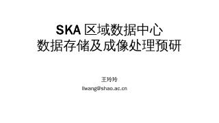 SKA区域数据中心数据存储及成像处理预研(...