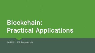SNF 101 Blockchain Practical Applications v1 ...