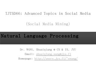 Social Media Mining: An Introduction - Book S...