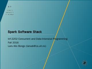 Spark libraries - Inf-2202 Concurrent and Dat...