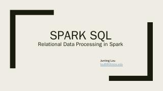 Spark SQL - CS598