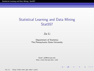 statistical learning and data mining introduc...