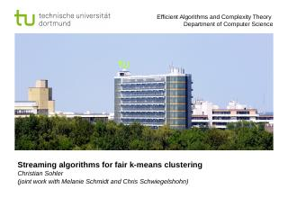 Streaming algorithms for fair k-means clustering