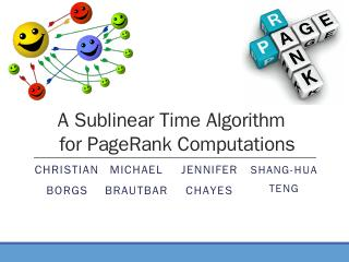 Sublinear time pagerank