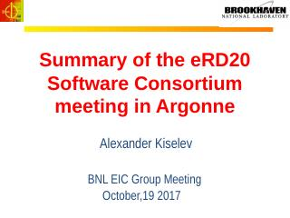Summary of the eRD20 Software Consortium meet...