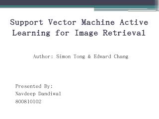 Support Vector Machine Active Learning for Im...