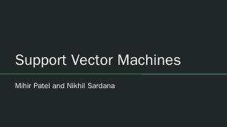 Support Vector Machines - TJ Machine Learning...