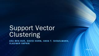 Support Vectors Clustering