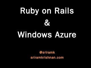 SVC03: Ruby on Rails and Windows Azure