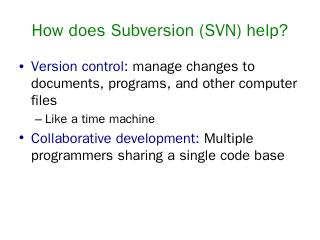 SVN Simple Example