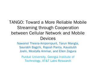 Tango: Toward a More Reliable Mobile ... - Pu...