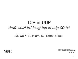 TCP-in-UDP - ifi