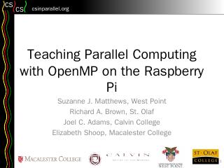 Teaching Shared-Memory Parallel Concepts with...