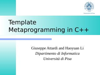 C++模板元编程